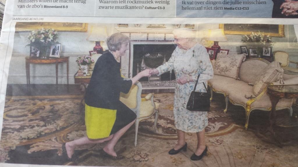 Queen Mum's tasje verklapt aankomende Quexit